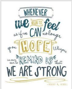 A great quote! #hope #strength #cancer