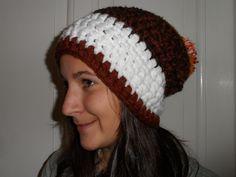 Oversized Pom Crochet Beanie..