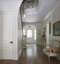 The floors are random width white oak, chemically oxidized for age and patina with a wax finish.
