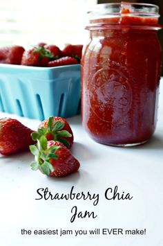 Wash up those fresh berries and get out your blender. Within a matter of minutes, you will have the freshest, healthiest jam ever! This jam is bound together with the the superfood, chia seed, and therefore, requires NO pectin!