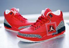 0751248277e DJ Khaled Air Jordan 3 Grateful PE Red Cement Grey Nike Air Max
