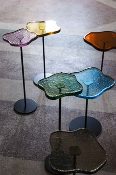 Our new Lily cocktail tables with jewel-like glass tops are perfect for introducing a shot of colour to any interior. Entry Furniture, Home Decor Furniture, Table Furniture, Furniture Design, Glass Furniture, Tequila Sunrise, Desk Inspiration, Interior And Exterior, Interior Design
