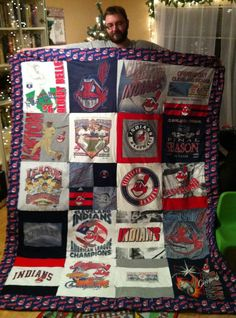 Cleveland Indians T-Shirt Quilt