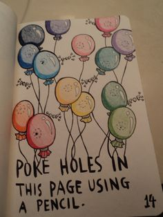 Poke holes in this page using a pencil, from Wreck This Journal.