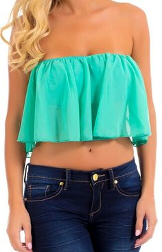 Flirty crop tops  paired with high-waist shorts or skinny denims are officially a wardrobe staple