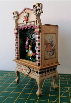 Miniature Furniture, Paint Furniture, Dollhouse Miniatures, Clock, Hand Painted, Wall, Painting, Home Decor, Painted Furniture