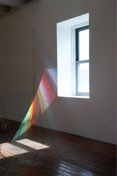 wow... Light + string installation