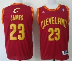 Revolution 30 Cleveland Cavaliers No.23 LeBron James Red Road Men s  Basketball Jersey Retro Nba b92b34698