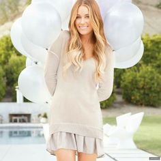 Lauren Conrad photoshoot inspiration balloons
