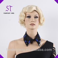 Wholesales high quality short women synthetic wig  Without chemical process   Longer vitality   high quality   synthetic wig