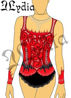 Competition Rhythmic gymnastic leotards Design Tango 1