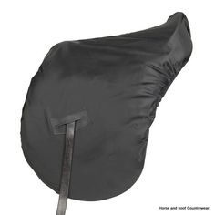 Elico Ride-on Saddle Cover Heavy duty coated waterproof nylon elasticated to fit all sizes With strengthened slots for stirrup leathers to pass