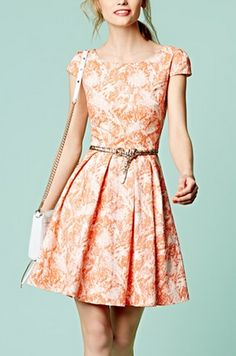 Cute little fit & flare dress I want this so bad! Pretty Dresses, Beautiful Dresses, Fashion Moda, Womens Fashion, Mein Style, Looks Style, Mode Inspiration, Nordstrom Dresses, Fit Flare Dress