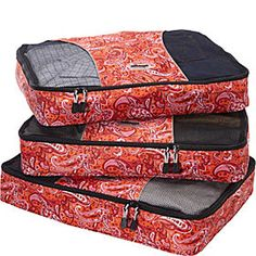 Packing Cubes | Huge Selection - eBags.com - these are great for compressing your clothing and making more fit in less space - come in tons of colors and three sizes.