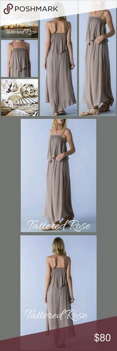 COMING! LATTE Maxi💋30% Off Bundles💋 Love this! Perfect for Cruising! Cute Latte colored Strappy Maxi Dress with layered detail. The elastic top allows true comfort and the scarf look gives it that boho fun! Everything is about Romance and simple elegance. Sewn with love made with 100% Rayon. IF YOU LIKE my ITEMS please FOLLOW ME for NEW LISTINGS 💋30%Off All Bundles💋 Mustard Seed Dresses Maxi