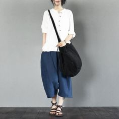 White linen T-shirt for women fashion girl top