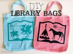 Cutesy Crafts: DIY Library Bags