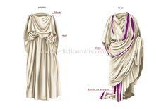 éléments du costume ancien image