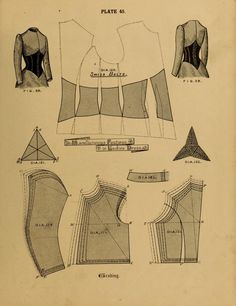 1890 - 1892 Swiss Belt. The cutters' practical guide to the cutting of ladies' garments by Vincent, W. D. F.