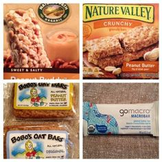 FODMAPs friendly ready-to-eat granola bars // @Kate Scarlata Note: Most options are not gluten-free