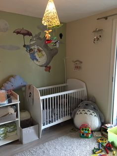 A big Totoro on the wall and on the carpet too #totoro #ghibli #miyazaki