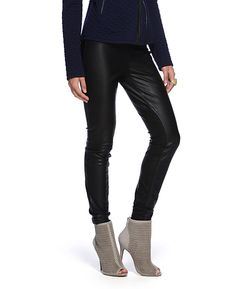 Blank Vegan Leather and Suede Legging