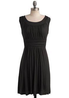 I Love Your Dress in Black. You'll feel plenty of adoration while wearing this lovely tank dress! #black #modcloth