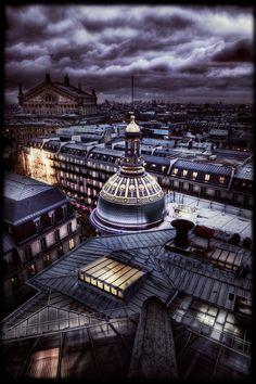 Paris on Christmas eve.