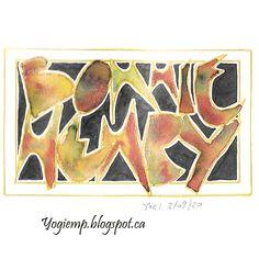 Gel Pens, Outline, Alphabet, Bee, Copper, Tapestry, Lettering, Artwork, Painting