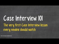 case interview 101 a great introduction to consulting case study interviews youtube - Case Interview Examples Case Interview Questions