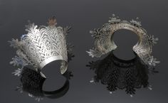 Lace Cuffs - Sharon Helgans 2007  sterling silver