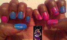 April 30 day nail art challenge day 18 sugar spun