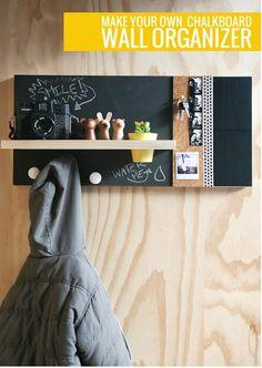 DIY Chalkboard Wall Organizer