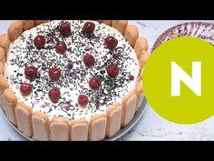 Sütés nélküli Fekete-erdő torta   Nosalty - YouTube Tiramisu, Cheesecake, Baking, Ethnic Recipes, Food, Youtube, Cheesecakes, Bakken, Essen