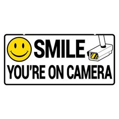 image about Smile You're on Camera Sign Printable named 9 Ideal indicators shots inside 2017 Dwelling stability courses, Community
