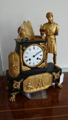 Antique Mantel Clock, Empire, early XIX century.