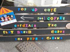 Pop-up cafe by Marine Theatre, Lyme Regis, Dorset UK