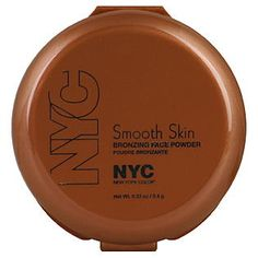 NYC Smooth Skin Bronzer in Sunny $2.99 This bronzer is very easy to blend and extremely natural looking. The matte finish makes it the perfect product for a subtle contour.