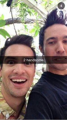 Brendon Urie and Pete Wentz - Fall Out Boy Snapchat Band members are basically…