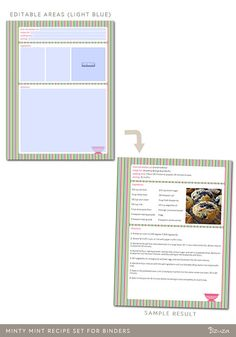 5x7 recipe cards simple lined black and white front and back 5x7