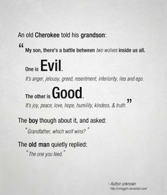 Good vs Evil Favorite Quote of All Time
