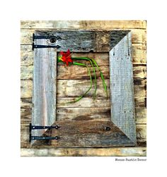 Rustic Barnwood Frame & Old Hinges 16x20 Reclaimed Wood, Rustic Decor, Picture…