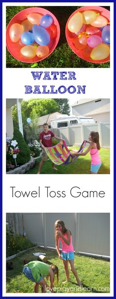 Water Balloon Game. Great Summer Activity for Kids and Family. Game for BBQ and Party. Summer Game