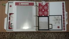 "Close To My Heart 3 ring binder made with Artbooking Cricut Cartridge and Teresa Collins ""Santa's List"" papers."