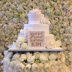Kim Kardashian posted an image of the birthday cake Kanye West got her on Instagram