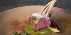 Combining the sweetness of lamb and leek with the sharpness of Stilton, this hearty rack of lamb recipe by Cristina Bowerman showcases the brilliance of British produce. Leek Recipes, Chicken Recipes, Sauce Recipes, Tandoori Lamb Recipe, Italian Main Courses, Crusted Rack Of Lamb, Stilton Cheese, Italian Chef, Italian Recipes