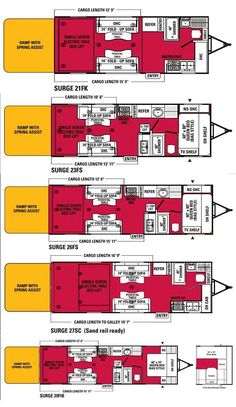 Coachmen Adrenaline Surge toy hauler floorplans