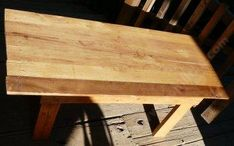 How to make a simple and cheap table out of wood.