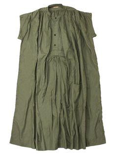 kapital olive green double pin tuck tunic