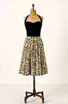 NWOT $158 Anthropologie Girls From Savoy Memory Of Feathers Dress 2 #GirlsFromSavoy #fitflaredress #versatile